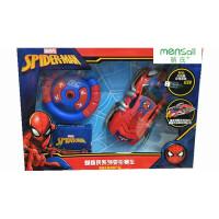 蜘蛛侠钢铁侠遥控赛车儿童男孩碰撞变形特技玩具车 蜘蛛侠变形车 官方标配