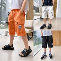 【2件2折】左西男童五分裤2021新款夏装儿童中大童韩版休闲短裤洋气夏