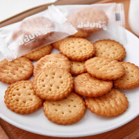 【冬己日本饼干雪花酥网红小圆饼102g*3袋】零食小圆饼办公室早餐下午茶小吃点心