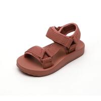 儿童凉鞋男童运动软底沙滩鞋女童魔术凉鞋