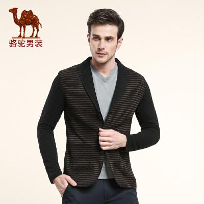 骆驼男装 春秋季 男士休闲时尚西服单西 男士长袖西装