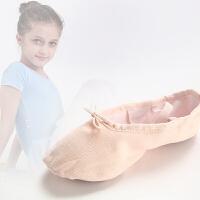 儿童舞蹈鞋软底女幼儿园帆布女童幼儿跳舞鞋小学生练功鞋猫爪鞋