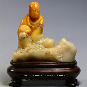 寿山芙蓉石《罗汉》摆件