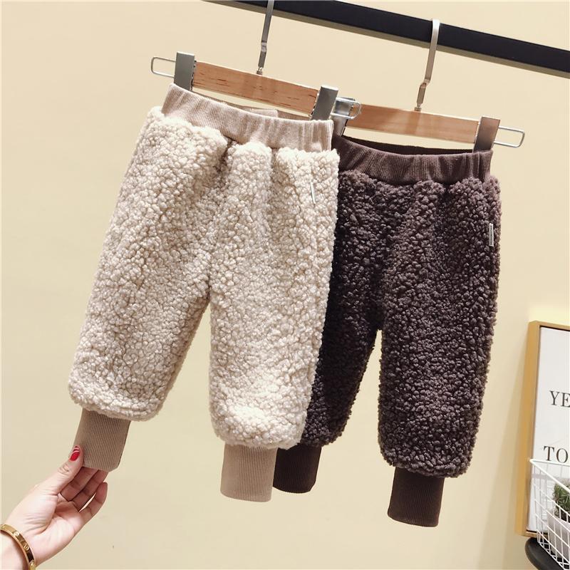 童装冬装羊羔绒裤小童保暖灯笼裤婴儿童长裤子