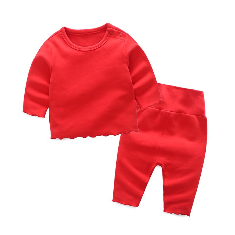 婴儿衣服睡衣家居服套装宝宝冬装6冬季0岁1过年喜庆红色新年3个月 发货周期:一般在付款后2-90天左右发货,具体发货时间请以与客服协商的时间为准