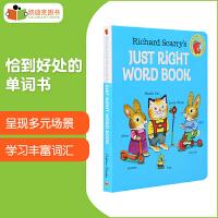 美国进口 斯凯瑞作品 just right word book 恰到好处的单词书专门为学龄前儿童学单词而设计 日常表达