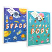 Lift the flaps Human Body & Space 英国Autumn百科翻翻书2册套装 人体 太空 幼