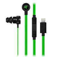 雷蛇(Razer)战锤狂鲨iOS专用版(Lightning接口) 游戏耳机 入耳式耳机 绿光手游耳机耳塞 王者荣耀耳塞