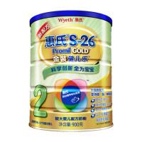惠氏S-26金装健儿乐较大婴儿和幼儿配方奶粉 2段900g(适用于6-12个月婴幼儿)更多优惠搜索【好药师惠氏】让宝宝喝上健康的奶粉