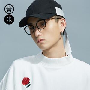 音米tr90眼镜框圆框眼镜近视女超轻平光眼镜女文艺小清新猫眼眼镜架
