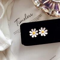 小雏菊耳钉花朵可爱气质女耳饰品韩国个性简约百搭短款耳环