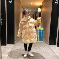 女童儿童中长款时尚棉袄中大童羽绒棉衣