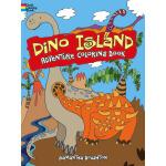 Dino Island Adventure Coloring Book