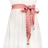 甜美长款打结女士腰带 百搭配连衣裙装饰毛衣气质腰封女通用腰带