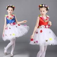 儿童公主裙表演服花仙子演出蓬蓬裙女孩连衣裙子夏