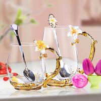 水杯玻璃杯子女用中秋茶杯礼品耐热手工杯子情人教师节创意礼物