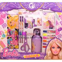 专柜正品开学礼盒小学生芭比娃娃儿童书包男女文具套装学习用品