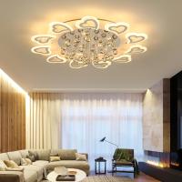 客厅灯简约现代圆形大气主卧室灯温馨浪漫水晶灯具家用北欧吸顶灯