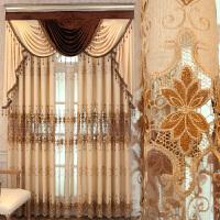 欧式窗帘平面窗落地窗凸窗纱帘客厅家用半遮光纱帘主卧 卡翠娜