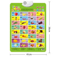有声挂图早教发声挂图0-3岁发声双面挂图宝宝玩具识字卡