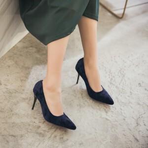 O'SHELL欧希尔新品150-88-1韩版磨砂绒面高跟女士单鞋