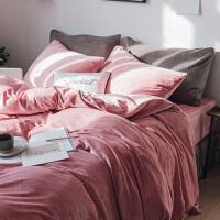 简约纯色天鹅绒四件套加厚保暖短毛绒床上用品裸睡超柔珊瑚绒
