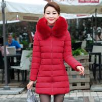 中老年棉衣女中长款加厚羽绒妈妈装冬装40-50岁2017新款外套