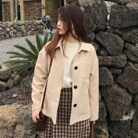 秋冬女装2017新款复古韩版chic气质短款双面呢夹克学生呢子外套潮