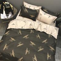 春夏季男女生潮流情侣床单四件套英伦风床品被套宿舍床上三件套 风尚 主图
