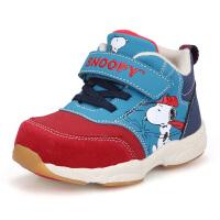 史努比童鞋男童机能鞋冬季大棉宝宝棉鞋软底学步鞋加厚儿童棉鞋