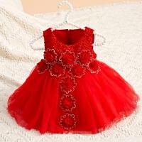 童装儿童连衣裙夏装女童礼服公主裙宝宝百天生日婚礼礼服
