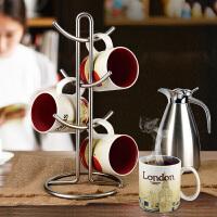 杯架 水杯挂架咖啡红酒杯马克杯倒挂欧式创意沥水架 置物架
