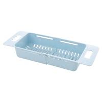 可伸缩水槽沥水架塑料放碗筷架子家用厨房碗碟架蔬菜收纳架