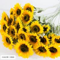 向日葵仿真花束客厅大太阳假花落地摆件花瓶餐桌插花装饰摆设干花