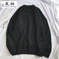 夏妆港风冬季新款日系复古中性女装毛衣女韩版圆领学生加厚针织衫上衣