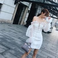 女装新款秋冬宫廷风 两件式裹胸显瘦白色连衣裙 白色 X