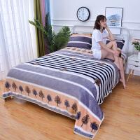 双人加绒法兰绒珊瑚绒床单单件短毛绒毛毛被单法莱绒毛毯1.8m米床 深灰色 秋枫树挽