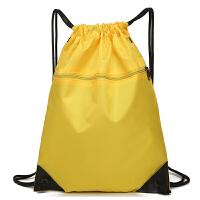 防水束口袋抽绳双肩包 男女户外大容量旅游旅行包跑步运动收纳包 均码