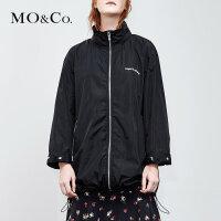 MOCO夏季新品薄款拉链连帽外套MA182COT101 摩安珂