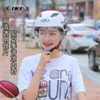 摩托车头盔男电动车女半盔安全帽夏季防晒防紫外线半覆式哈雷