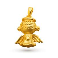 先恩尼黄金 3D硬金 足金约3.26克 黄金 家和宝宝吊坠 XQZA041713