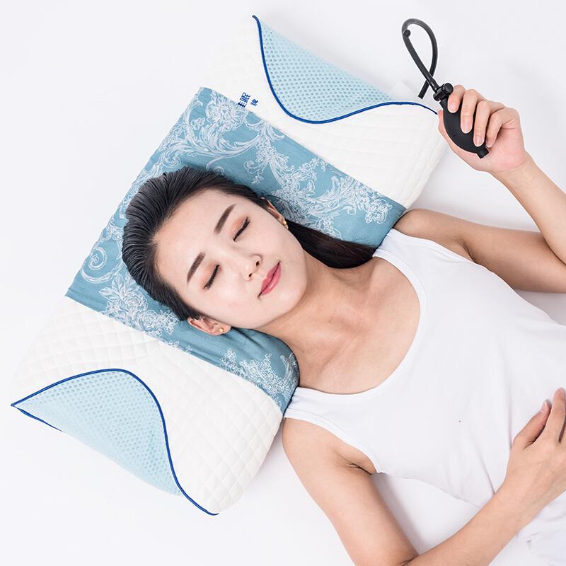 记忆枕头芯颈椎护颈枕充气记忆棉枕头 新款USB热疗 热敷 充气 调节高度的枕头