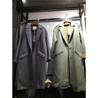 C2秋冬新款韩版中长款毛呢外套女暗扣茧型呢子大衣宽松显瘦潮1.25