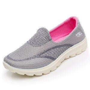 欣清秋季老北京布鞋女鞋中老年妈妈鞋单鞋运动透气网面跑步鞋休闲鞋