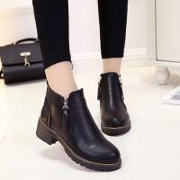 O'SHELL欧希尔新品060-1128英伦粗跟女士短靴