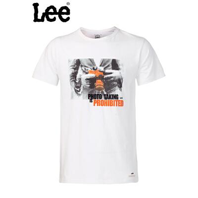 【书香节 跨店每满200减100】Lee 【断码】男士 修身休闲 短袖T恤L12895866E38