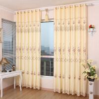 欧式客厅窗帘成品防晒窗帘布简约现代平面窗卧室飘窗半遮光落地窗