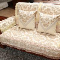 中式沙发垫布艺沙发巾实木沙发坐垫客厅组合套装四季通用定做