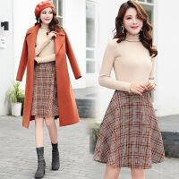 秋季新款时尚套装韩版A字半身裙潮流三件套