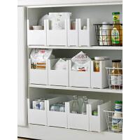 橱柜收纳盒厨房桌面收纳篮储物盒塑料置物架锅具整理盒厨具收纳筐